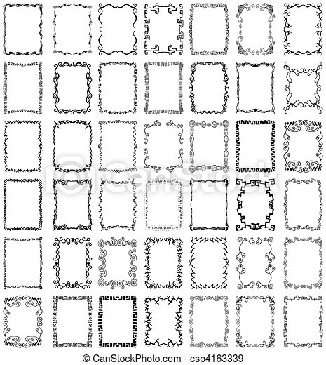 Vector Frames and Borders Collection Set - csp4163339