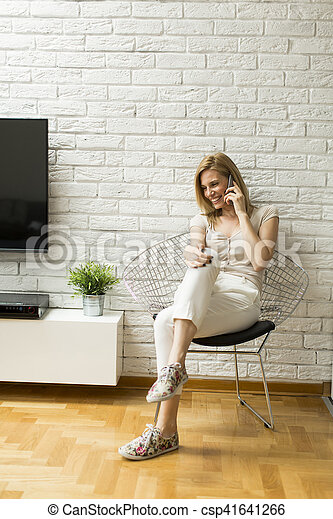 Woman in the room - csp41641266