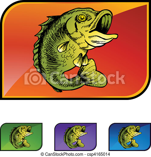 Big Mouthed Bass - csp4165014