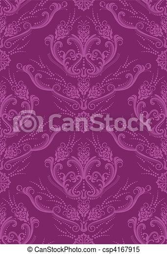 fuchsia bloemen behang