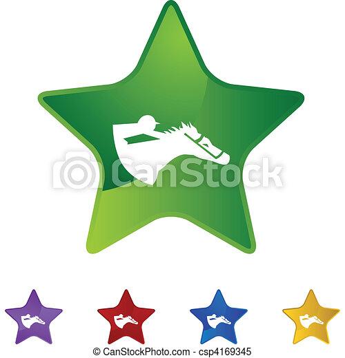Horse Jockey - csp4169345