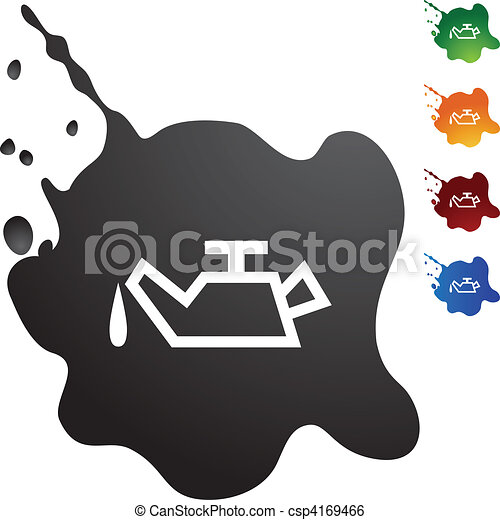 Clip Art Vector of Oil Can button isolated on a background ...