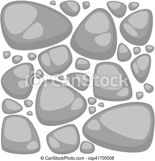Abstract vector stone background set. Seamless pattern collection. - csp41700508