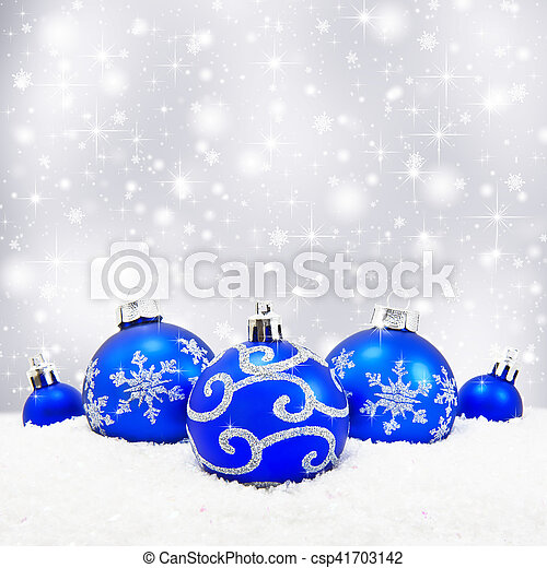 Three red christmas balls - csp41703142