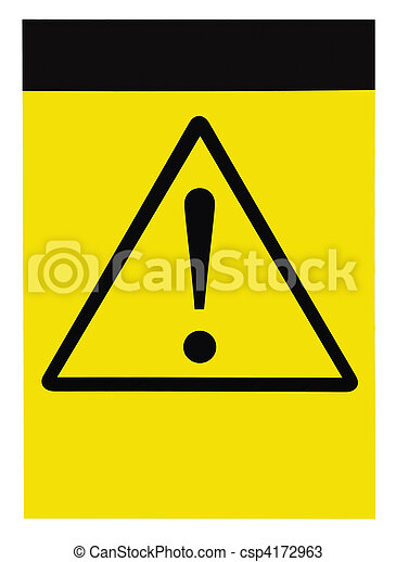 Blank general warning sign - csp4172963