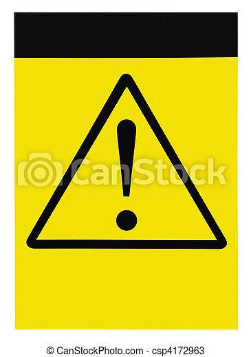 Blank general warning sign - csp4172963