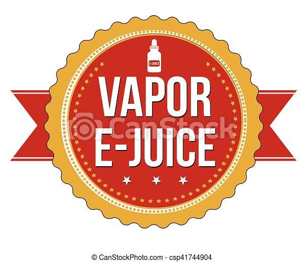 vector clipart of vapor e juice label or sticker on white background vector csp41744904. Black Bedroom Furniture Sets. Home Design Ideas