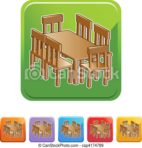 EPS Vectors Of Dining Room Table Csp4174789