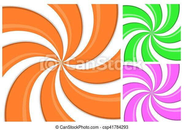 3, パターン, らせん状に動きなさい, イラスト, 効果, 背景, 色 ...