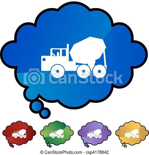 Cement Truck - csp4178842