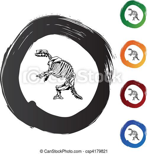 Fossil Bones - csp4179821