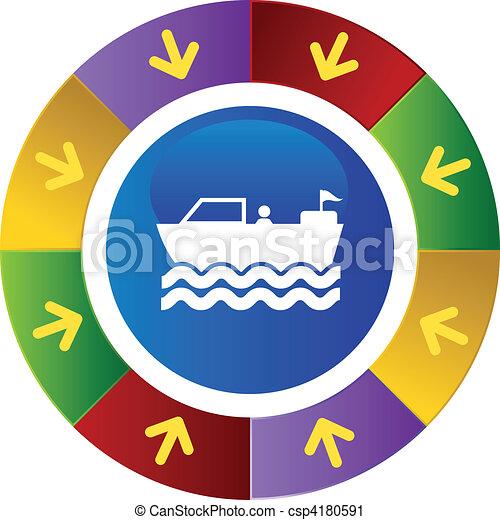 Motor Boat - csp4180591