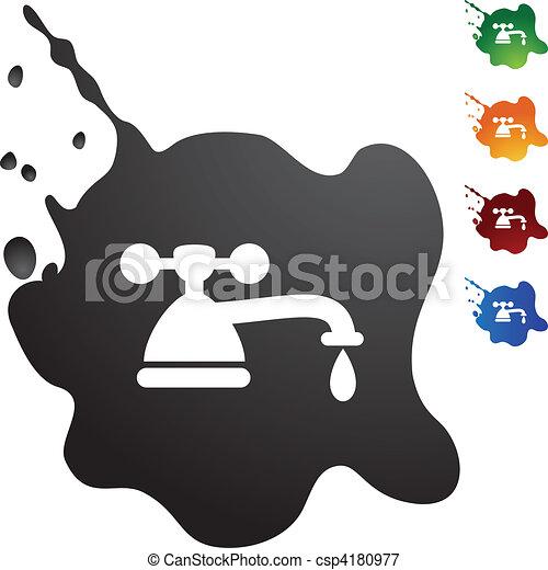 Water Faucet Drip - csp4180977