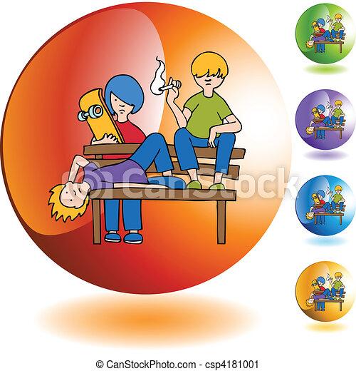 Vector Clip Art of Juveniles csp4181001 - Search Clipart ...