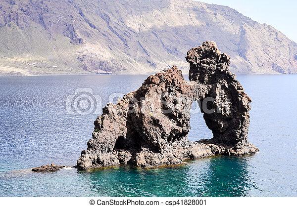 Roque de Bonanza beach in El Hierro - csp41828001