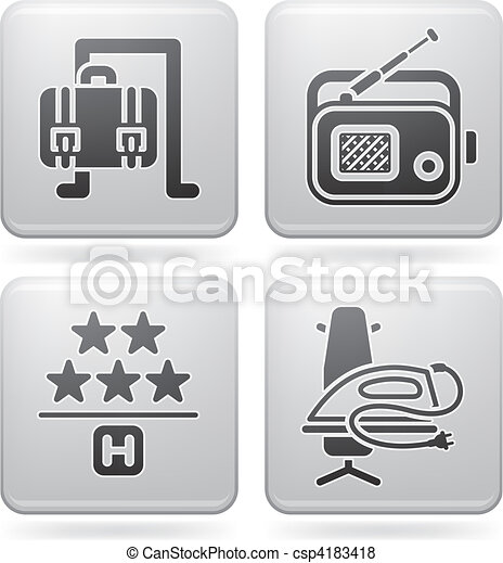 Hotel Related Icons - csp4183418