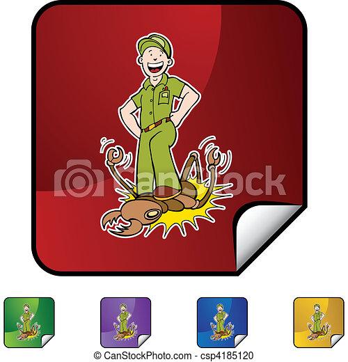 Termite Exterminator - csp4185120