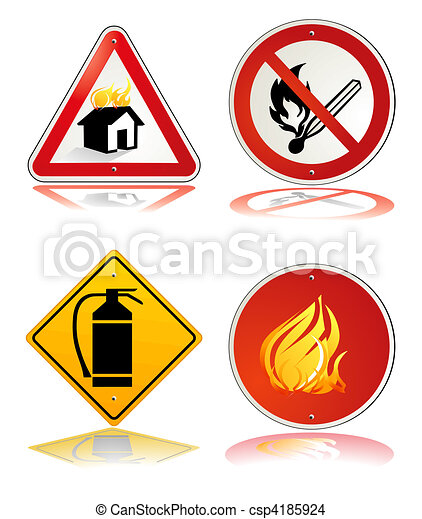 Clip Art Fire Safety Clipart fire safety stock illustrations 13788 clip art sign