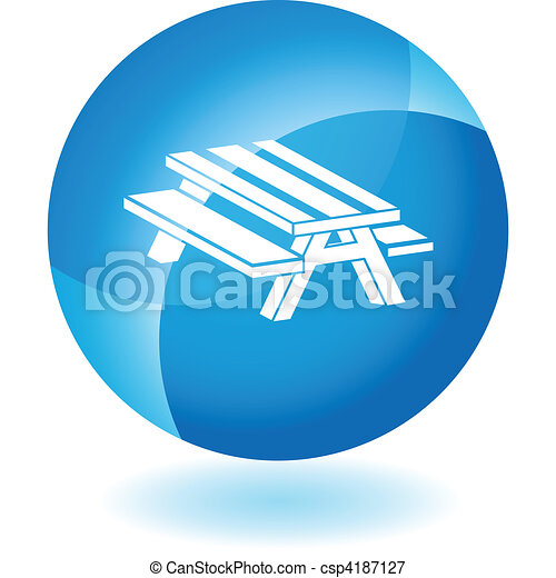 Vectors Illustration of Picnic Table - Picnic table isolated on a ...