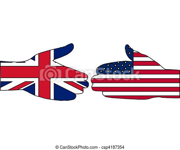 International handshake - csp4187354