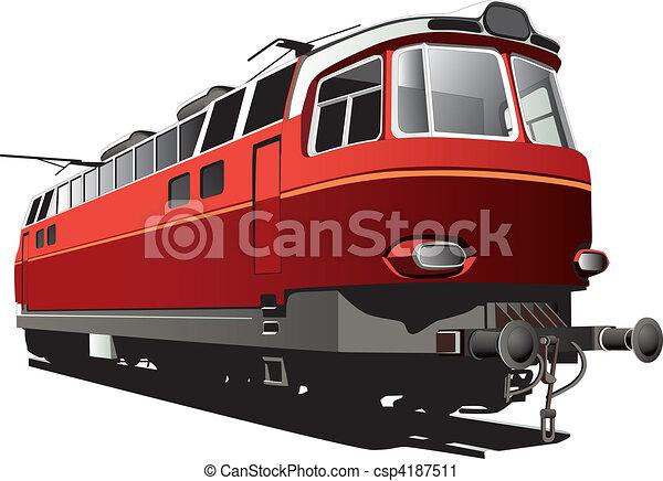 retro electric train - csp4187511