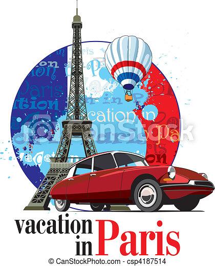 Vacation in Paris - csp4187514