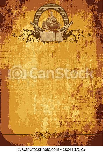 Wild west poster - csp4187525