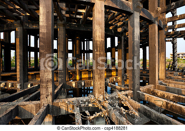 Abandoned industrial facility - csp4188281