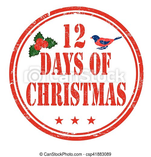 Christmas sign or stamp 12 days of christmas csp41883089 search