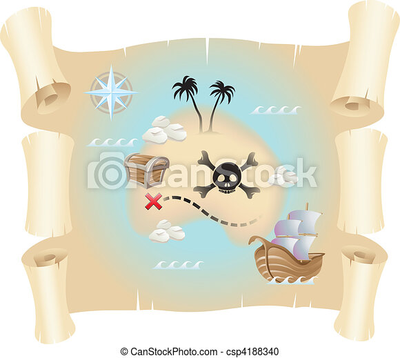 Treasure Map - csp4188340