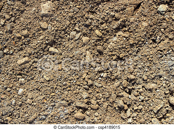 Soil and stony ground texture. - csp4189015