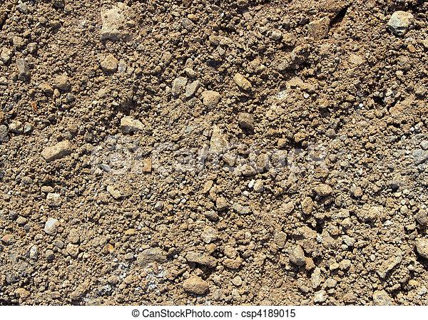 Soil and stony ground texture. - csp4189015