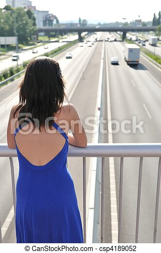 Civilization - looking on highway - csp4189052