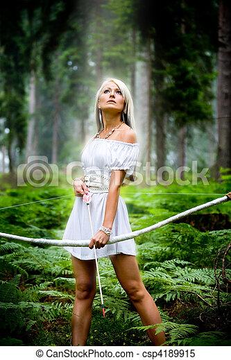 amazon girl - csp4189915