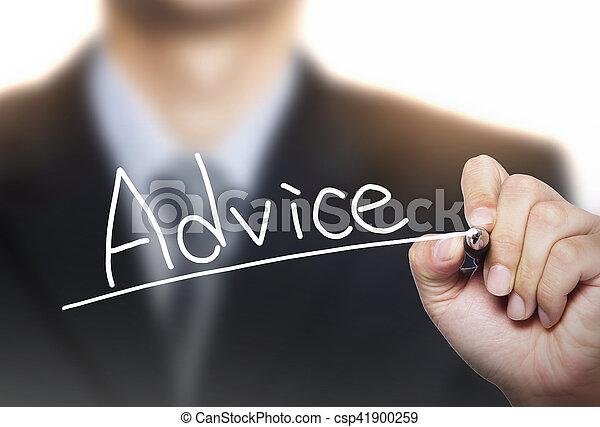 advice written by hand - csp41900259