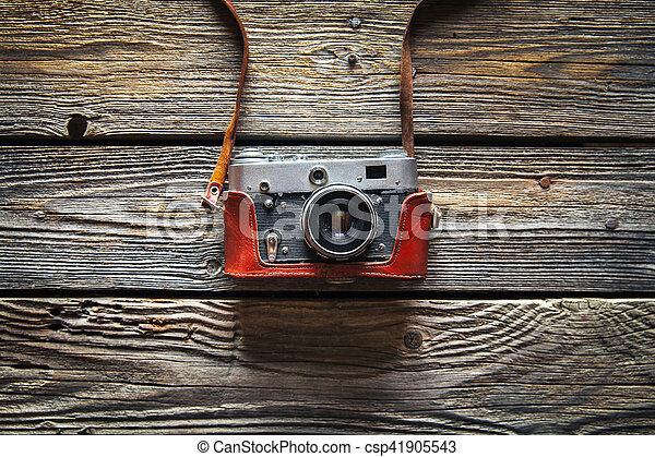 stock foto von holz, ton, farbe, fotoapperat, hintergrund, retro, Esszimmer dekoo