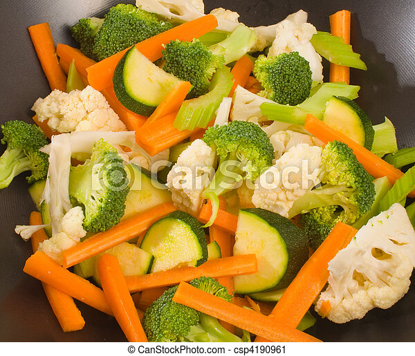 Raw chopped vegetables - csp4190961