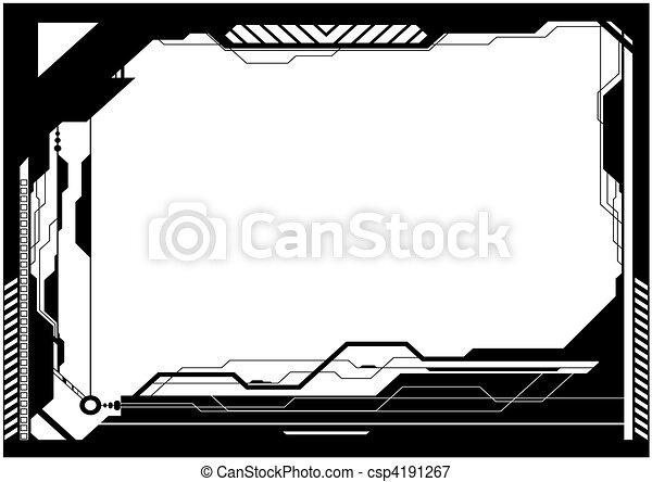 High-tech frame - csp4191267