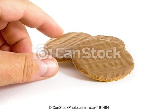 Chocolate Biscuit Temptation - csp4191484
