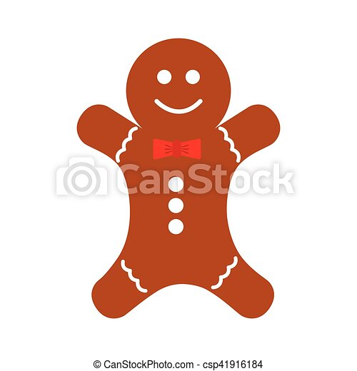 christmas ginger bread decorative icon - csp41916184