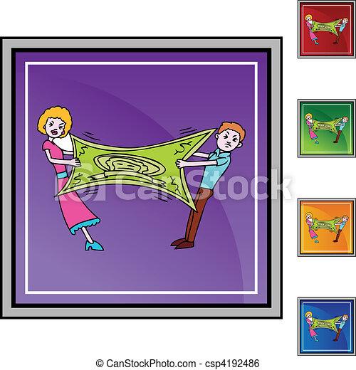 Stretching Dollar - csp4192486