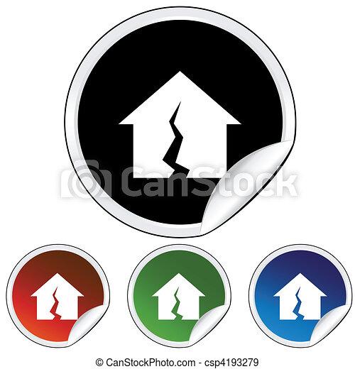 Damaged Home - csp4193279