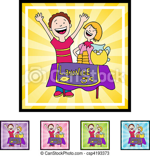 Vectors of Lemonade Stand csp4193373 - Search Clip Art, Illustration ...