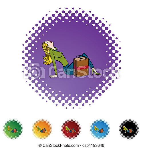Laughing Shopper - csp4193648