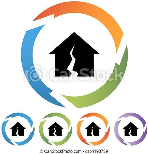 Damaged Home - csp4193739
