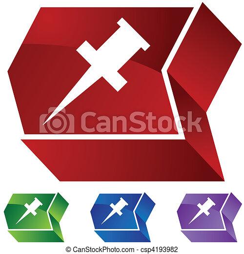 Pushpin - csp4193982