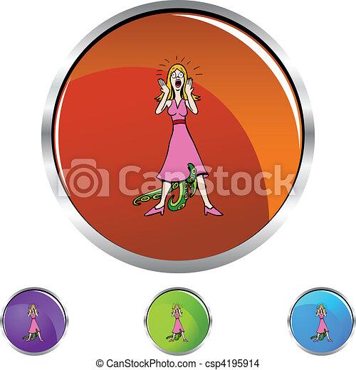 Venereal Diseased Woman - csp4195914