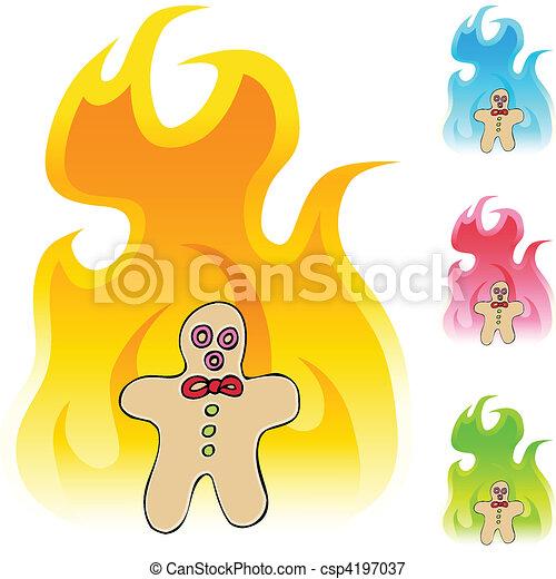 Gingerbread Man - csp4197037