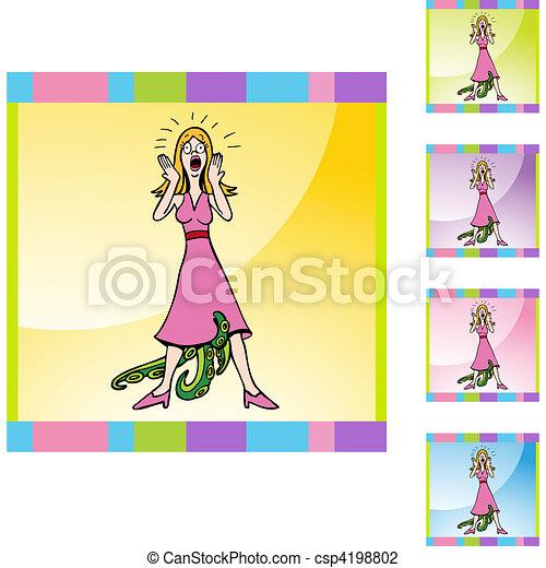 Venereal Diseased Woman - csp4198802