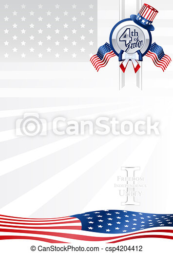Background 4th of July - csp4204412